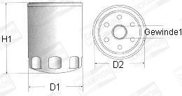Ilustracja C165/606 CHAMPION filtr oleju