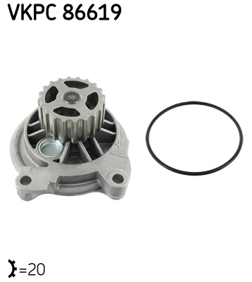 Ilustracja VKPC 86619 SKF pompa wodna
