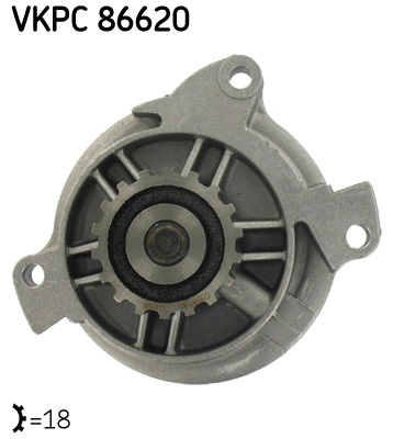Ilustracja VKPC 86620 SKF pompa wodna