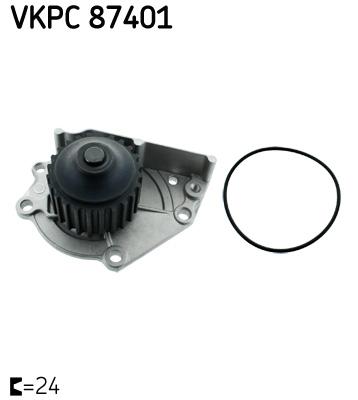 Ilustracja VKPC 87401 SKF pompa wodna