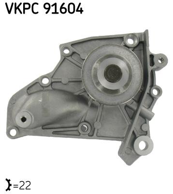 Ilustracja VKPC 91604 SKF pompa wodna