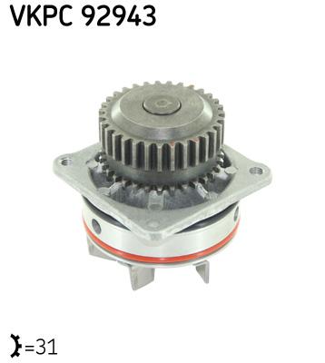 Ilustracja VKPC 92943 SKF pompa wodna