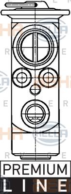 Ilustracja 8UW 351 234-151 HELLA zawór rozprężny, klimatyzacja