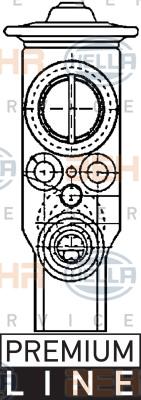 Ilustracja 8UW 351 234-171 HELLA zawór rozprężny, klimatyzacja