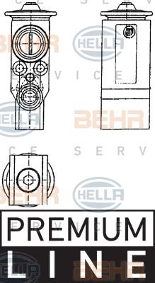 Ilustracja 8UW 351 239-071 HELLA zawór rozprężny, klimatyzacja