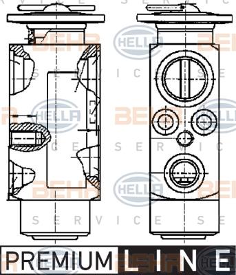 Ilustracja 8UW 351 239-011 HELLA zawór rozprężny, klimatyzacja