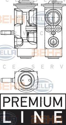 Ilustracja 8UW 351 239-611 HELLA zawór rozprężny, klimatyzacja