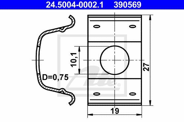 Ilustracja 24.5004-0002.1 ATE mocowanie, przewód hamulcowy elastyczny