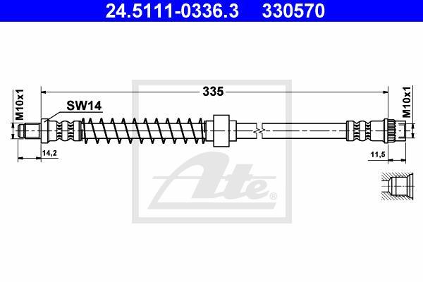 Ilustracja 24.5111-0336.3 ATE przewód hamulcowy elastyczny