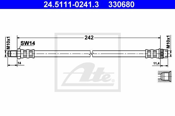 Ilustracja 24.5111-0241.3 ATE przewód hamulcowy elastyczny