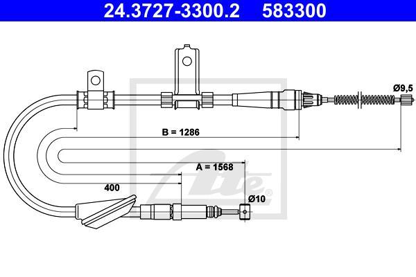 Ilustracja 24.3727-3300.2 ATE linka hamulca ręcznego