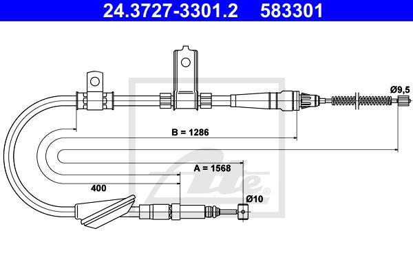 Ilustracja 24.3727-3301.2 ATE linka hamulca ręcznego