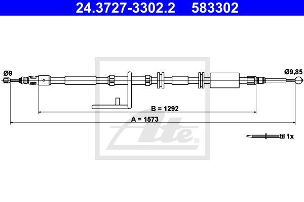 Ilustracja 24.3727-3302.2 ATE linka hamulca ręcznego