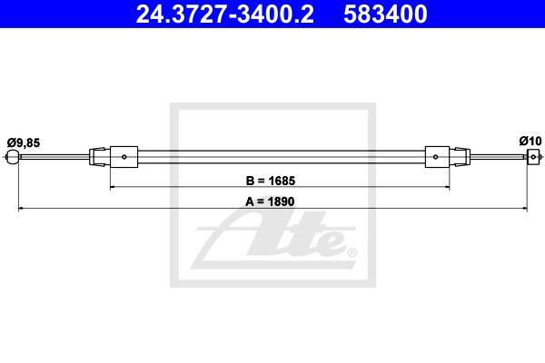 Ilustracja 24.3727-3400.2 ATE linka hamulca ręcznego