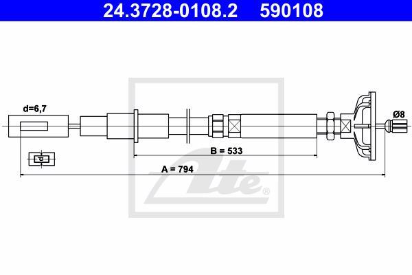 Ilustracja 24.3728-0108.2 ATE linka sprzęgła