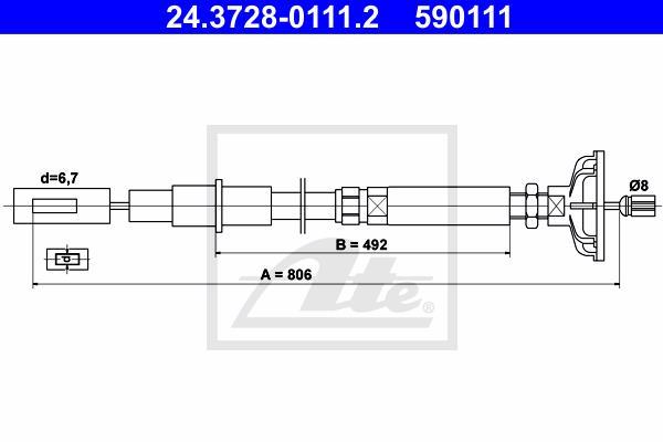 Ilustracja 24.3728-0111.2 ATE linka sprzęgła