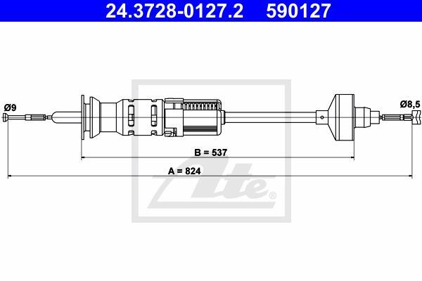 Ilustracja 24.3728-0127.2 ATE linka sprzęgła
