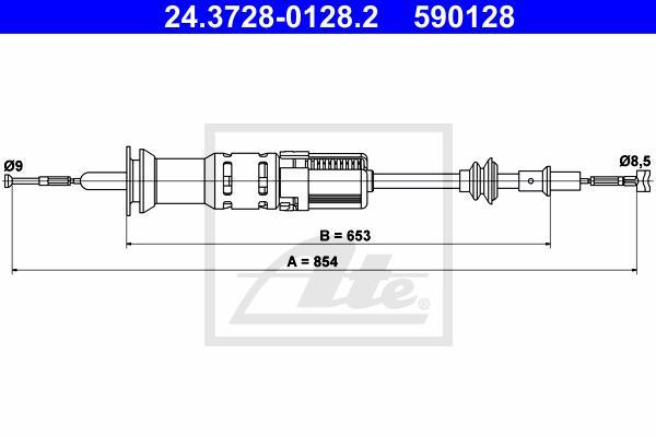 Ilustracja 24.3728-0128.2 ATE linka sprzęgła