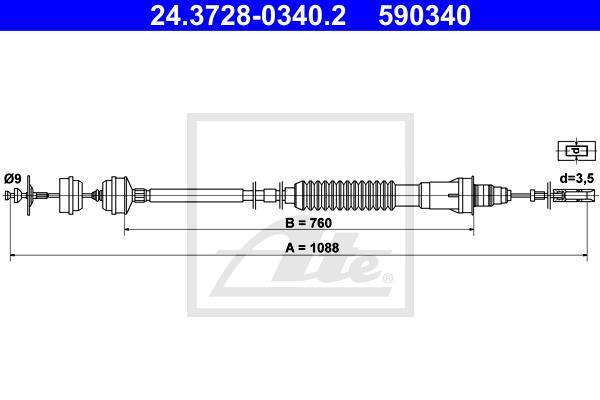 Ilustracja 24.3728-0340.2 ATE linka sprzęgła