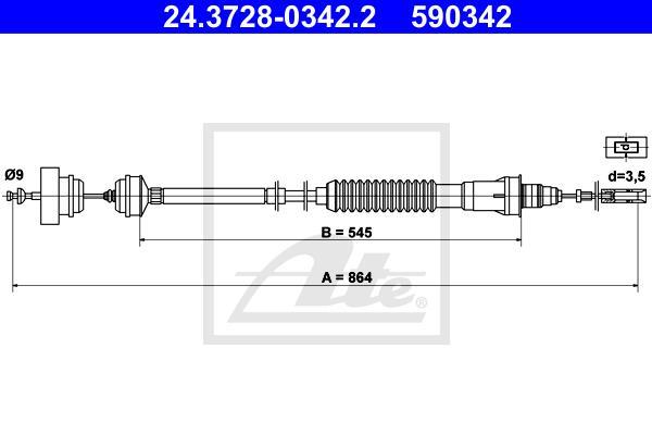 Ilustracja 24.3728-0342.2 ATE linka sprzęgła