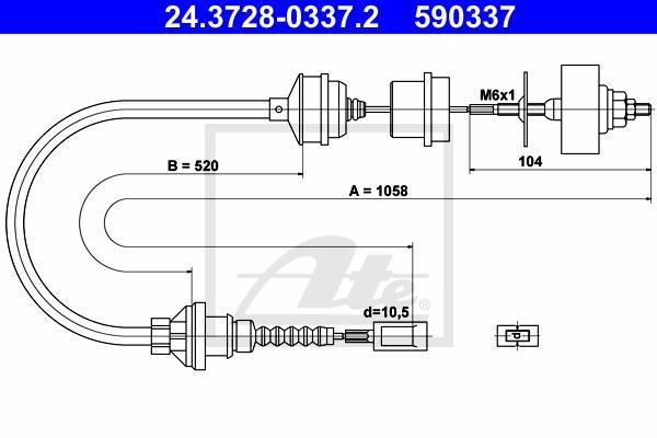 Ilustracja 24.3728-0337.2 ATE linka sprzęgła