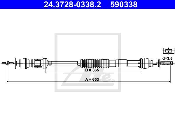 Ilustracja 24.3728-0338.2 ATE linka sprzęgła