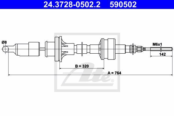 Ilustracja 24.3728-0502.2 ATE linka sprzęgła