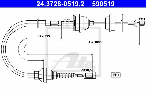 Ilustracja 24.3728-0519.2 ATE linka sprzęgła