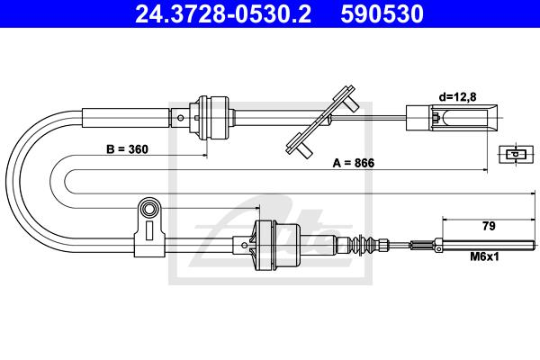Ilustracja 24.3728-0530.2 ATE linka sprzęgła