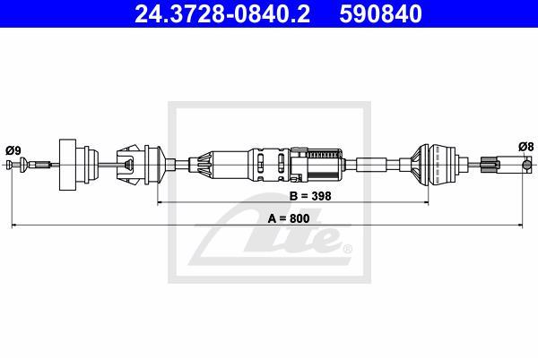 Ilustracja 24.3728-0840.2 ATE linka sprzęgła