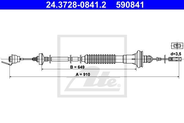 Ilustracja 24.3728-0841.2 ATE linka sprzęgła