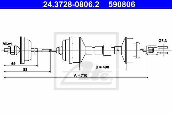 Ilustracja 24.3728-0806.2 ATE linka sprzęgła