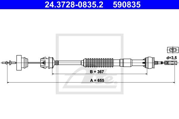 Ilustracja 24.3728-0835.2 ATE linka sprzęgła
