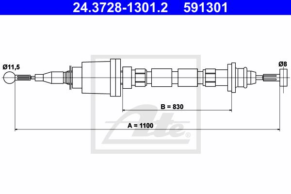 Ilustracja 24.3728-1301.2 ATE linka sprzęgła