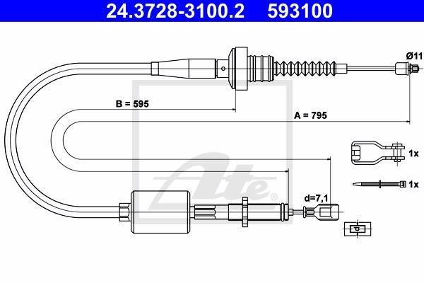 Ilustracja 24.3728-3100.2 ATE linka sprzęgła
