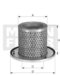 Ilustracja C 1374/2 MANN-FILTER filtr powietrza wtórnego