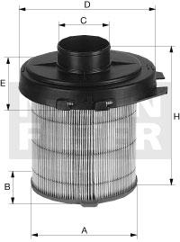 Ilustracja C 1468/1 MANN-FILTER filtr powietrza