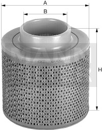 Ilustracja C 1368 MANN-FILTER filtr powietrza