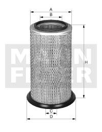 Ilustracja C 19 280 MANN-FILTER filtr powietrza
