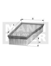 Ilustracja C 17 021 MANN-FILTER filtr powietrza