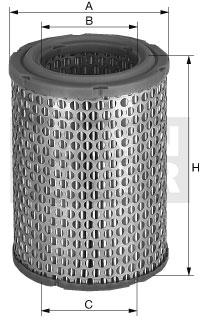 Ilustracja C 1399/1 MANN-FILTER filtr powietrza