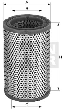 Ilustracja C 15 124 MANN-FILTER filtr powietrza