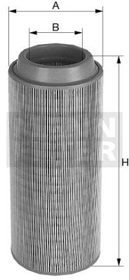 Ilustracja C 15 300/2 MANN-FILTER filtr powietrza