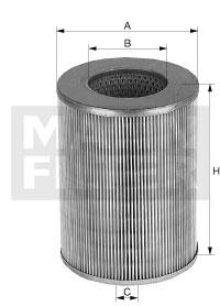Ilustracja C 15 163 MANN-FILTER filtr powietrza