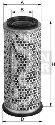 Ilustracja C 18 180/1 MANN-FILTER filtr powietrza