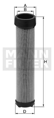 Ilustracja C 15 102/1 MANN-FILTER filtr powietrza wtórnego