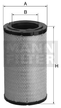Ilustracja C 16 324 MANN-FILTER filtr powietrza