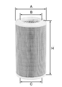 Ilustracja C 17 278/1 MANN-FILTER filtr powietrza
