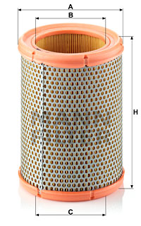 Ilustracja C 1362 MANN-FILTER filtr powietrza