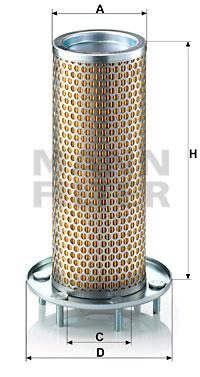Ilustracja C 1371 MANN-FILTER filtr powietrza wtórnego